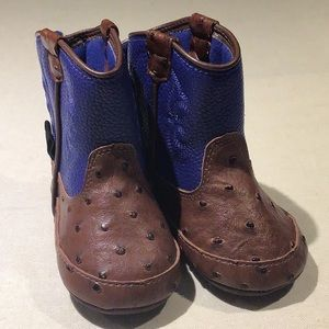 Double barrel western baby boots